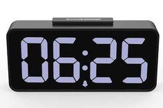 Top 9 Best Digital Alarm Clocks in 2020 Led Alarm Clock, Digital Alarm Clock, Telling Time, Board, Planks