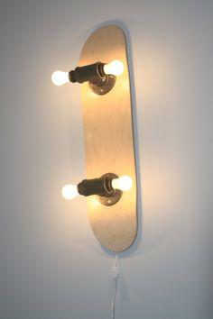 Skateboard Wall Lamp by zboardz on Etsy