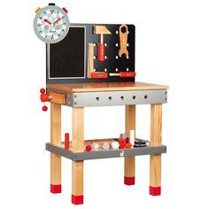 Banco de carpintero de madera con pies regulables - Janod