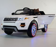 White Land Rover Range Rover Style Ride on Toy Car Battery Operated Best Electric Car, Electric Cars, Kids Jeep, Toy Cars For Kids, Power Wheels, Barbie Birthday, Trendy Baby Clothes, Kids Ride On, Sweet Cars
