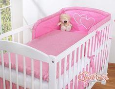Pościel Serduszka pepitka ciemny róż - 3cz - Pościel dla dzieci i niemowląt - największy sklep internetowy Bassinet, Cribs, Toddler Bed, Furniture, Home Decor, Cots, Child Bed, Crib, Decoration Home