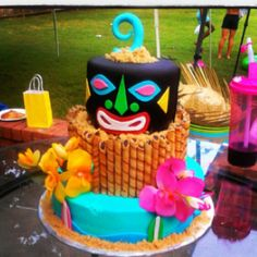 Hawaiian themed cake!!