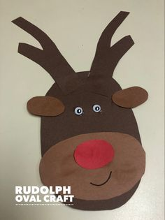 Use oval shapes of different sizes to Make Rudolph.
