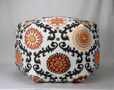 27 Wide By 18 Tall Floor Ottoman Pouf Pillow Brown by Zeldabelle, $155.00