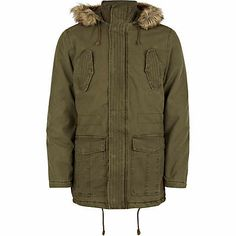Khaki Tokyo Laundry parka jacket $120.00