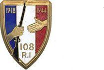 Insigne Regimentaire du 108e Régiment D'infanterie