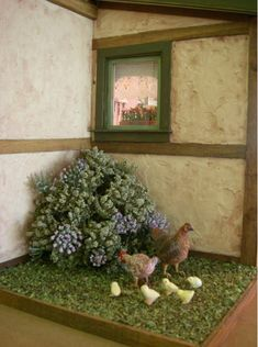 Love the surface of this cottage....and the chickens.