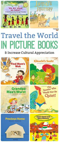 When we introduce diverse cultures to kids it enlarges their worlds. Picture books from different countries give kids an important appreciation for both other cultures and people. Around The World Theme, Celebration Around The World, Kids Around The World, Countries Around The World, Around The Worlds, World Geography, Preschool Books, Children's Literature, Preschool Activities