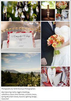 Orange and gold vineyard wedding inspiration