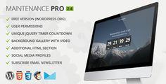 Download Maintenance PRO v2.4 Premium WordPress Plugin