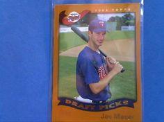 baseball cards 2002 Topps rookie card Joe  Mauer