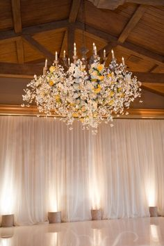 """Perfect Decor for a Rustic Barn Wedding. Rustic Barn Weddings don't need much decor. The barns, themselves create such an ambiance that hanging flowers like the one above and fabric..."