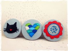 hand embroidered pins by jubela
