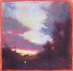 roads with an edge by Loriann Signori Pastel ~  x