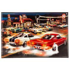 Mustang Chop Shop Embossed Tin Sign⎜Open Road Brands