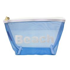 Medium Mesh Avery Case in Blue with White Beach by Lolo - FINAL SALE