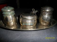 Found in France - English Cruet Set (Salt, Pepper & Mustard)
