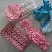 Four Baby Headbands to knit & Crochet - via @Craftsy