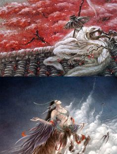 """mingsonjia: """" mingsonjia: """" 【中国百鬼】""""One Hundred Chinese Demons and Spirits"""" by VIKI_LEE 李一帆 """" update """" They are, in order: 1. 夫诸·白鹿 Fu Zhu - a gentle white deer with four antlers whose appearance..."""