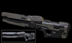 Halo 4 Railgun, Dan Sarkar on ArtStation at https://www.artstation.com/artwork/JDqva
