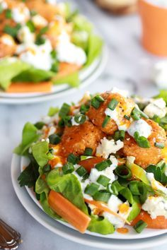 Crispy Buffalo Quinoa Bites Salad   http://www.halfbakedharvest.com/