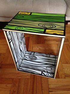Reimagined Woods-y RAST - Amazing bold wood grain paint job Diy Kids Furniture, Shelf Furniture, Recycled Furniture, Handmade Furniture, Furniture Makeover, Painted Furniture, Furniture Design, Furniture Dolly, Muebles Shabby Chic