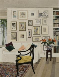 Cressida Campbell, Interior with Black Lacquer Chair. 2007.