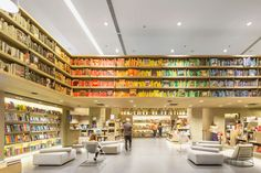 The Saraiva Bookstore is Organized to Invite Users to Browse #libraries trendhunter.com