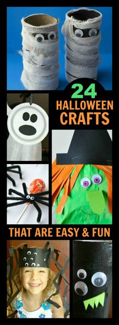 Fun Halloween ideas for toddlers  preschool Halloween crafts - halloween kids craft ideas