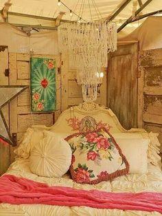 Beautiful bedroom inspiration! --> junk gypsy tent . zapp hall antique show. warrenton, texas