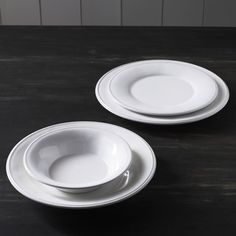 Constance White Ceramic Tableware - Tableware - Kitchen
