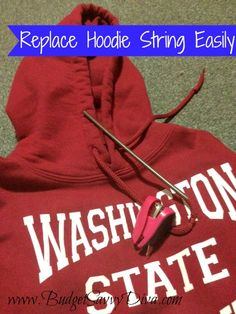 Replace Hoodie String Easily