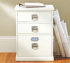 Shop bedford two-drawer paper organizer from Pottery Barn. Our furniture, home decor and accessories collections feature bedford two-drawer paper organizer in quality materials and classic styles. Ikea Storage Drawers, Wood Drawers, Small Drawers, Desk Storage, Food Storage, Home Office Storage, Home Office Design, Cabinet Furniture, Home Office Furniture