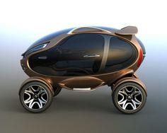 Futuristic Vehicle, Citroen EGGO – Electric Car By Damnjan Mitic