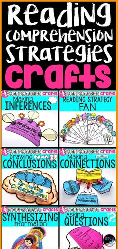 Reading comprehension craft activities to engage young learners. Reading Workshop, Reading Skills, Reading Groups, Guided Reading, Reading Tutoring, Kindergarten Reading, Teaching Second Grade, Third Grade Reading, Reading Comprehension Strategies