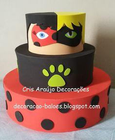 Arte com balões e EVA: EVA: Miraculous (Ladybug e Cat Noir)