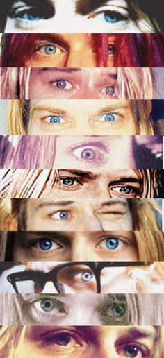 "Not a song about Kurt, but it reminds me ""your eyes still remind me of, angels that hover above, eyes that can change from blind to blue"" - dave grohl (""hey, johnny park!"") the colour and the shape"