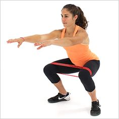 Squats With Loop Resistance Bands