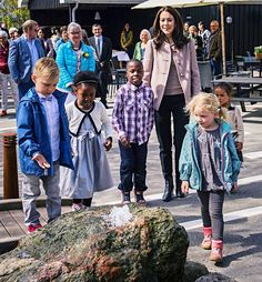 Crown Princess Mary of Denmark attended the opening of the Ringsted Krisecenters Sensory Garden and Playground on May 9, 2015 in Ringsted, Denmark