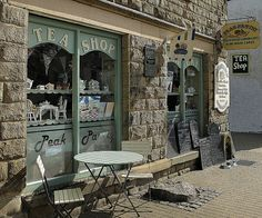 Tea for two please - the village of Eyam in the Peak District, England