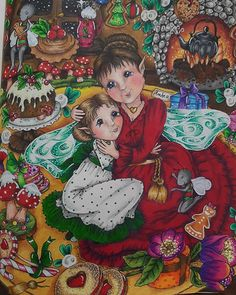 Adult Coloring, Coloring Books, Coloring Pages, Autumn Illustration, Markova, Prismacolor, Colorful Pictures, Wall Collage, Color Inspiration