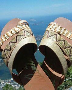#regram da Raquel Ramm Dolvitsch que curtiu as férias com Valentina e arrasou!  #ValentinaFlats #shoes #fashion #loveit #summer #loveshoes #shoeslover #beach #riodejaneiro #flat #bordado #errejota