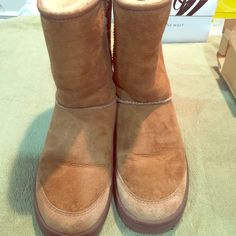 UGGS  Ultimate Short UGG Boots. Color: Chestnut. Size: 8. Thicker soul. Brand New/Never Worn/ Still in original box. UGG Shoes Flats & Loafers