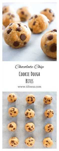 Healthy chocolate chip cookie dough bites. Vegan, high in protein, low in fat and sugar free! #cookiedough #vegan #chocolate