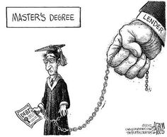 political cartoons | Student Loan Debt - Political Cartoon