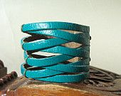 BraideTurquoise Leather Cuff Bracelet #EasyPin
