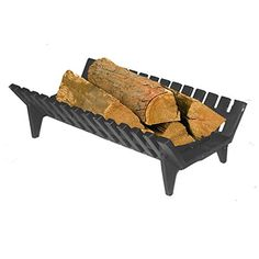 Cast Iron Fire Basket Dog Grate Suitable for Burning Logs and Solid Fuel
