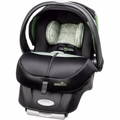Baby Advanced Convertible Embrace Infant Car Safety Seat With SensorSafe Peridot #Evenflo