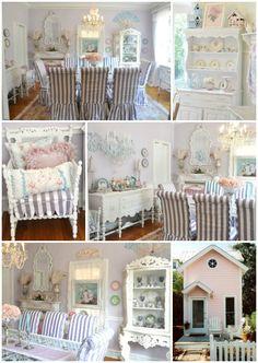 Cottage ♥ Little Pink Cottage, Shabby Chic Decor