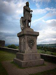 Robert the Bruce, eternally guarding Sterling Castle